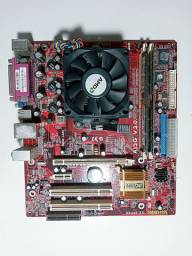Placa mãe A13G V 3.0 + AMD Athlon 64 3000+ + 1.5GB de ram DDR2 + HD SAMSUNG 160GB