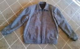Jaqueta masculina de lã