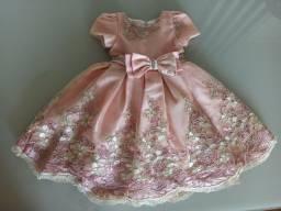 Vestido infantil super luxo de festa