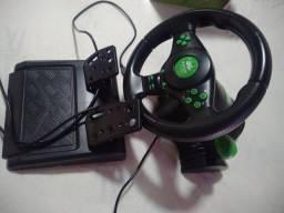 Volante De Vibração Gamer Com Pedais e Cambio Preto Giro 180º Knup KP-5815A<br><br>