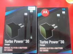 Carregador turbo original - V8 ou Tipo C De 80 por 50 a vista (2x 30 cartão)