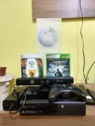 Xbox 360-1 manete + Kinect+3 jogos originais e garantia R$599(7x 100 cartão)