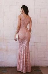 Vestido Longo Renda Festa Madrinha Formatura Casamento #lv3
