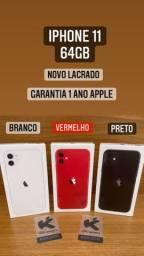 iPhone 11 64gb - Preto, Branco e Vermelho. Novo Lacrado