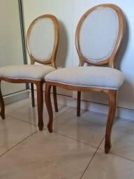 2 cadeiras medalhão