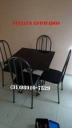 Mesa tubular de 4 cadeiras