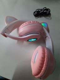 Headphone Bluetooth Gatinha e Gatinho