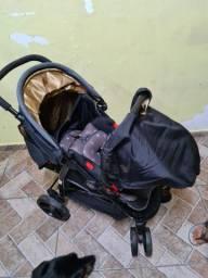 Carrinho e bebe conforto travel system nexus preto  cosco
