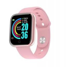 Título do anúncio: Relógio Inteligente Rosa Smartwatch D20 / Y68 Fitpro Atualizado Com Caixa Acrílica
