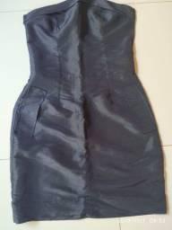 Vestido Preto Tubinho Tomara que caia 25,00