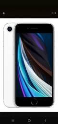 Iphone se 64gb branco novo nunca usado com o plástico original que protege a caixa