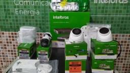 Kit com 4 câmeras de segurança e instalação