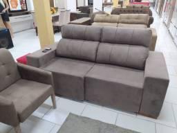 Sofá retrátil e reclinável 03 Lugares
