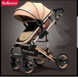 Carrinho de bebê Moisés importado luxo europeu com BB conforto