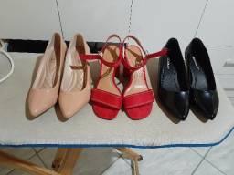 Sapatos 35 - semi novos