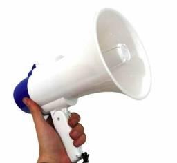 Megafone amplificador de voz sirene grava;) entrega grátis