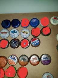 Lote tampinhas Pepsi Teem e Fanta para colecionador