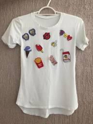 Camisa com Patchs NOVA