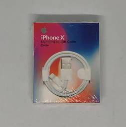 Cabo Lightning USB iPhone 7, 8, X e 11 com 1 Metro Novo na Caixa