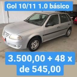 Gol G4 10/11 1.0 basico 3.500,00 mais 48x de 545,00