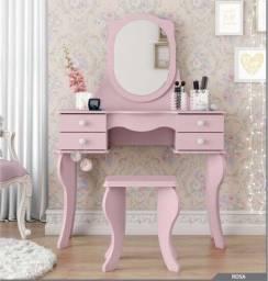 Penteadeira Princesa Cores Rosa ou Branco