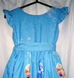 Vestido Frozen Infantil (sonhos & mimos)4 anos