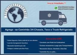 Agrega - se Caminhão 3/4 Chassis , Toco ou Truck Refrigerado - Embu