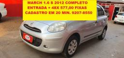 Nissan March 1.6S Completo 2012
