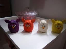 4 Miniaturas boneco Furby boom