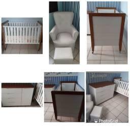Quarto Para Bebê. Cômoda E Berço (grand Vitoria) + Poltrona