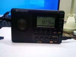 Rádio FM, digital AM, FM e SW
