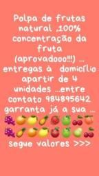 Polpas 100 % fruta NATURAL