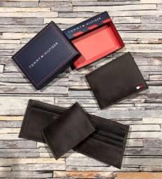 Carteira Couro marrom + Porta Cartão modelo Executive