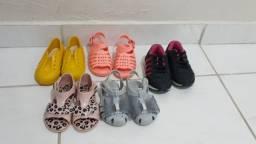 Percatas e sapatos infantis femininos
