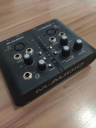 Placa de som/áudio maudio mtrackplus