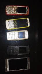 Celular antigo Nokia Motorola