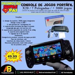 x20 Console de jogos portátil c/ tela 7 p e suporte para joystick TF, Double Player