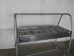 Fogao industrial e balcão térmico usado