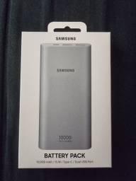 Bateria Externa carga rápida 10.000mAh USB Tipo C Prata<br><br>