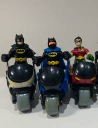 IMAGINEX- 2 Batmans + Robin + 3 Motos