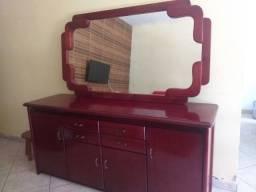 Aparador de madeira mais espelho