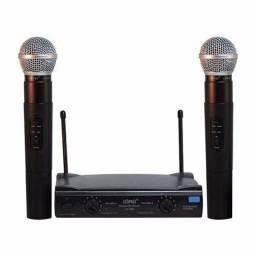 Microfones sem fio duplo