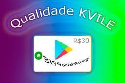 Cartão digital pré pago google 30