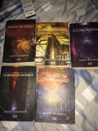 Venda de livros (maze runner, herdeiros de atlantida, etc)