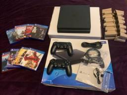 Playstation 4 Slim 500GB 2Controles + 8 Jogos