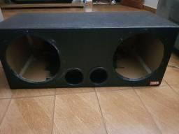 """Caixa de som para 2 Subwoofer 12"""" polegadas"""