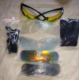 Óculos 5 lentes Ciclismo e Pesca