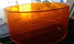 Caixa de bateria em acrilico =Somente o casco + aros = Grande Promoção !