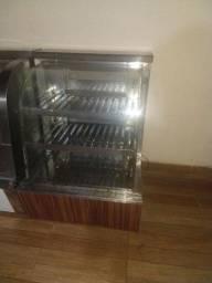 Balcão estufa com bandejas