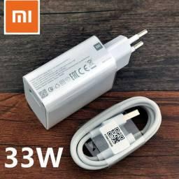 Carregador celular 33w original xiaomi - qc4.0 turbo + cabo